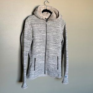 Kuhl grey zipup hooded sweatshirt medium